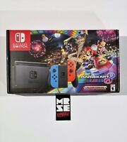 Nintendo Switch Mario Kart 8 Deluxe Bundle Neon Blue & Red Joy Con 32GB Console