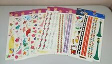 Sandylion Sticker Sheet Lot of 11 Disney Princesses & Mickey Mouse