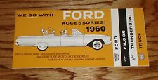 1960 Ford Accessories Sales Brochure Falcon Thunderbird & Truck 60