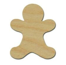 Gingerbread Man Shape Unfinished Wood Cutouts DIY Crafts Variety of Sizes