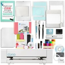 Silhouette Curio Digital Crafting Machine with Vinyl Starter Kit and Accessories