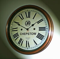Great Western Railway GWR Victorian Style Wall Clock, Chepstow Station