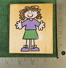 Hero Arts Rubber Stamp JUST HANNAH Mounted Stamp FREE SHIPPING!