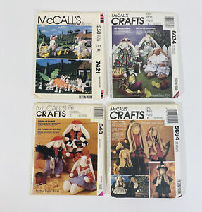 McCalls Craft Sewing Patterns Garden Holiday Country Farm Bunnies Easter Plush