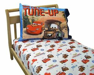 NEW~Disney Cars 2 Piece Toddler Fitted Sheet  & Pillowcase Set