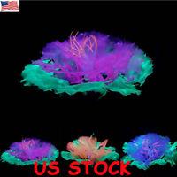 US Sea Anemone Artificial Fake Coral Plant for Aquarium Fish Tank Ornament Decor