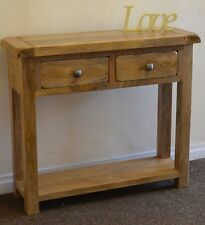 Odisha 100% Solid Mango 2 Drawer Console Table Free Delivery!! Fully Assembled!