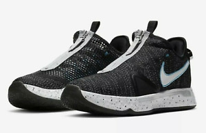 Nike Mens PG4 Paul George Basketball Shoes Black White CD5079-004 Men's -SZ 16-