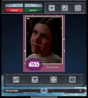 SWCT Topps Star Wars Card Trader mystery ??? variant PRINCESS LEIA 2 Card Set