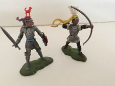 SW1)... Two Britain's Swoppet Foot Knights ..Good Condition... see photos
