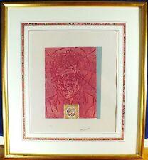 "Etching Martin Barooshian Aqua Tint Cranberry #40/60 Framed 23""x 26"" Rare Piece"