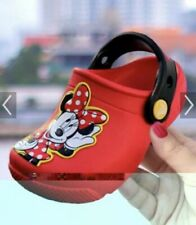 New With Tags Children's Crocs Flame Funlab Minnie Mouse Clog K Size C 13