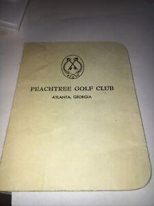 "Peachtree Club ""Scored ""Scorecard"
