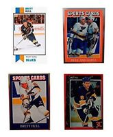 (4) Brett Hull Odd-Ball Trading Cards Lot