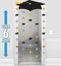 Graduation Cap Foil Doorway Curtain (1)~ Graduation Party Supplies Decorations