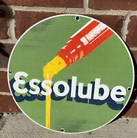 Esso Essolube Motor Oil Porcelain Gas Pump Advertising Sign