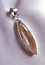 Rutile Quartz Pendant set in Sterling Silver.