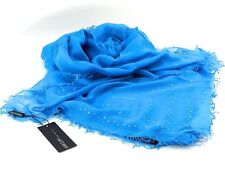 Esprit GLAMOUR Stole Scarf Sciarpa accessorio Navy Blu Argento Nuovo