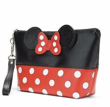 NEW RED/BLACK Minnie Mouse Clutch/Make Up Bag - Perfect Gift