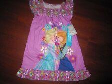 NWT Disney Store Frozen Anna Elsa Nightshirt/Nightgown Size 4
