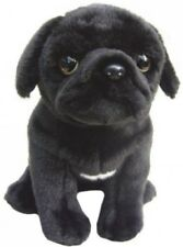 "Pug Black Faithful Friends Soft Toy Dog 12"""