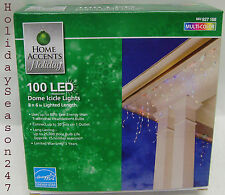 Home Accents 100 LED Dome Icicle Lights Multi Color Holiday Christmas Decoration