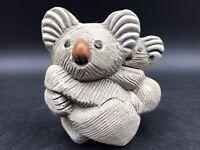 Vintage Artesania Rinconada Koala and Baby Hand Carved Clay Figurine
