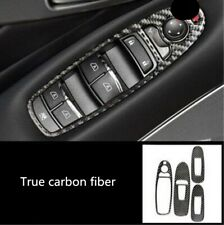4PCS Carbon Fiber Interior Door Handle Frame Trim For Infiniti Q50//Q50L 2013-18