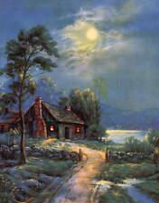 Cabin Full Moon Mountains Stream 2 Wm Thompson