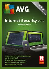 AVG Internet Security Unbegrenzt 2018 * 1 Jahr PC Handy Lizenz * Protection Pro
