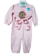 *NWT- CARTER'S - BABY GIRL'S 3-PC JUMPSUIT, BIB & BOOTIES GIFT SET - SIZE: 3-6M