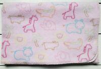 Circo Pink Fleece Baby Blanket  Animals Jungle Lion Giraffe Hippo Target Outline