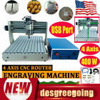 USB 3040 4AXIS CNC Router Engraver Engraving Desktop Drill/Milling Machine 400W
