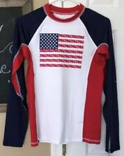 Vineyard Vines For Target Flag Sun Shirt Xs 4/5 Children's Sun Blocker Spf