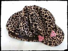 One Size Pink Rose & Leopard Print Cap