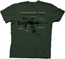 Firefly Codename Vera Mens Army Green T-Shirt Serenity Small