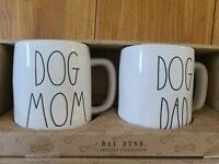 NEW RAE DUNN Dog Mom Dog Dad Mug Set Coffee Mug Coffee Cup