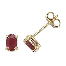 Orecchini di lusso con gemme bottoni ovali rubino
