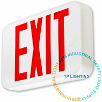 Red LED Emergency Light Exit Sign UL924 Fire Safety Modern Battery Backup