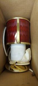New In Box Moe Lighting Honeycomb Pendant Light Cranberry Pink