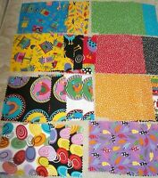 """Lot of 32 pcs Fabric Charm Pack 5x 5"""" SQUARES mult-color brights Quilting Fabric"""