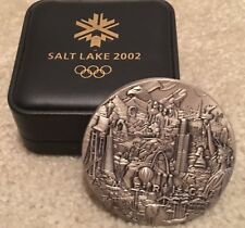2002 Salt Lake City Olympic  Silver Medal  Medallion Badge  Symbol Arts Limited