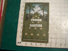 vintage catalog: FROZEN DAINTIES white mountain freezers co.  DECORATIVE COVER