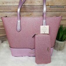 Kate Spade Lola Glitter Tote Laptop Shoulder Bag Satchel Purse Handbag