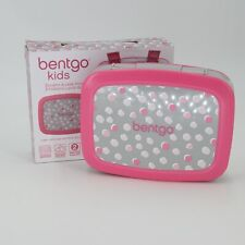 Bentgo Lunch Boxes Kids Prints (Pink Dots) - Leak-Proof, 5-Compartment Ideal For
