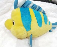 "Disney Store The Mermaid Ariel Bambola Little Flounder Pesce Peluche Giocattolo morbido lungo 13"""