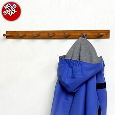 7 Peg Bamboo Coat Rack Wall Mounted Hanger Wood Entryway Hat Purse Storage NOTAX