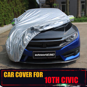 For Honda Civic 2016 2017 Waterproof Car Cover Snow Dust Resistant Protection