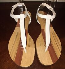 Casadei SANDALS MADE IN ITALY LEATHER WHITE 11 10.5