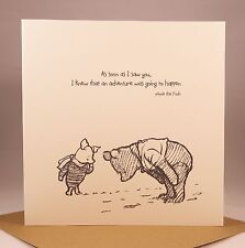 WINNIE THE POOH Husband Wife Girlfriend Anniversary Birthday Valentines Card